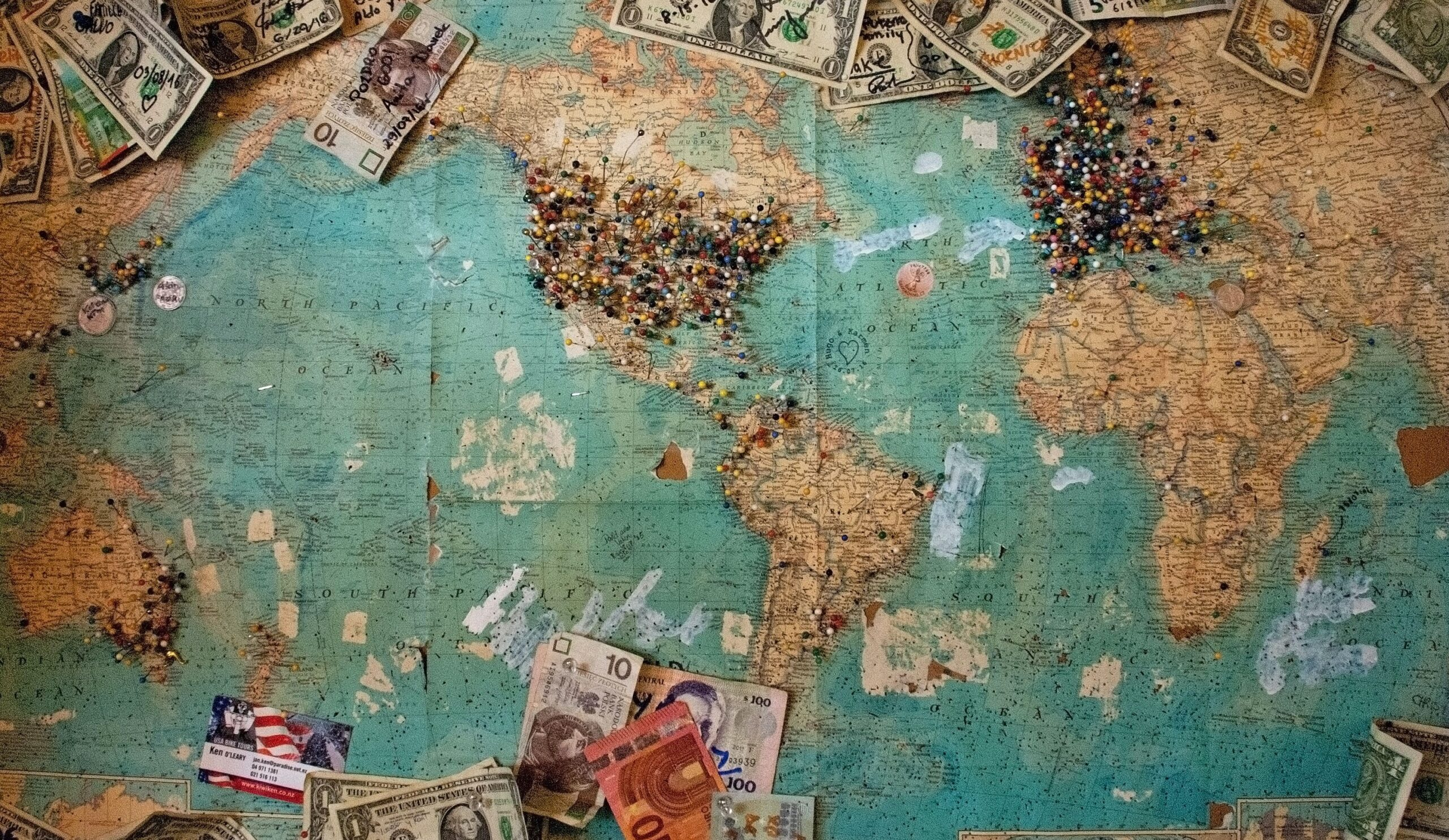 The International Risk Podcast Map with Money by Dominic Bowen